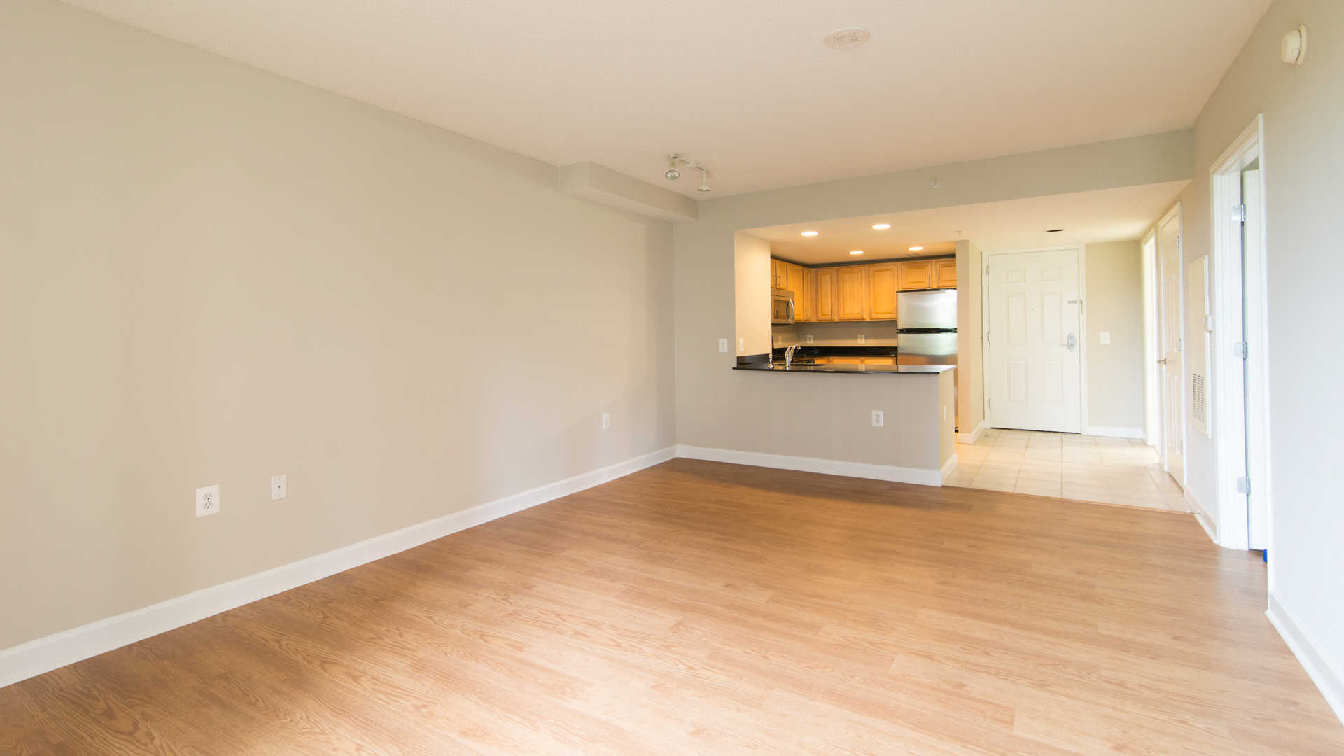 Dining Room and Kitchen with Hard Surface Flooring