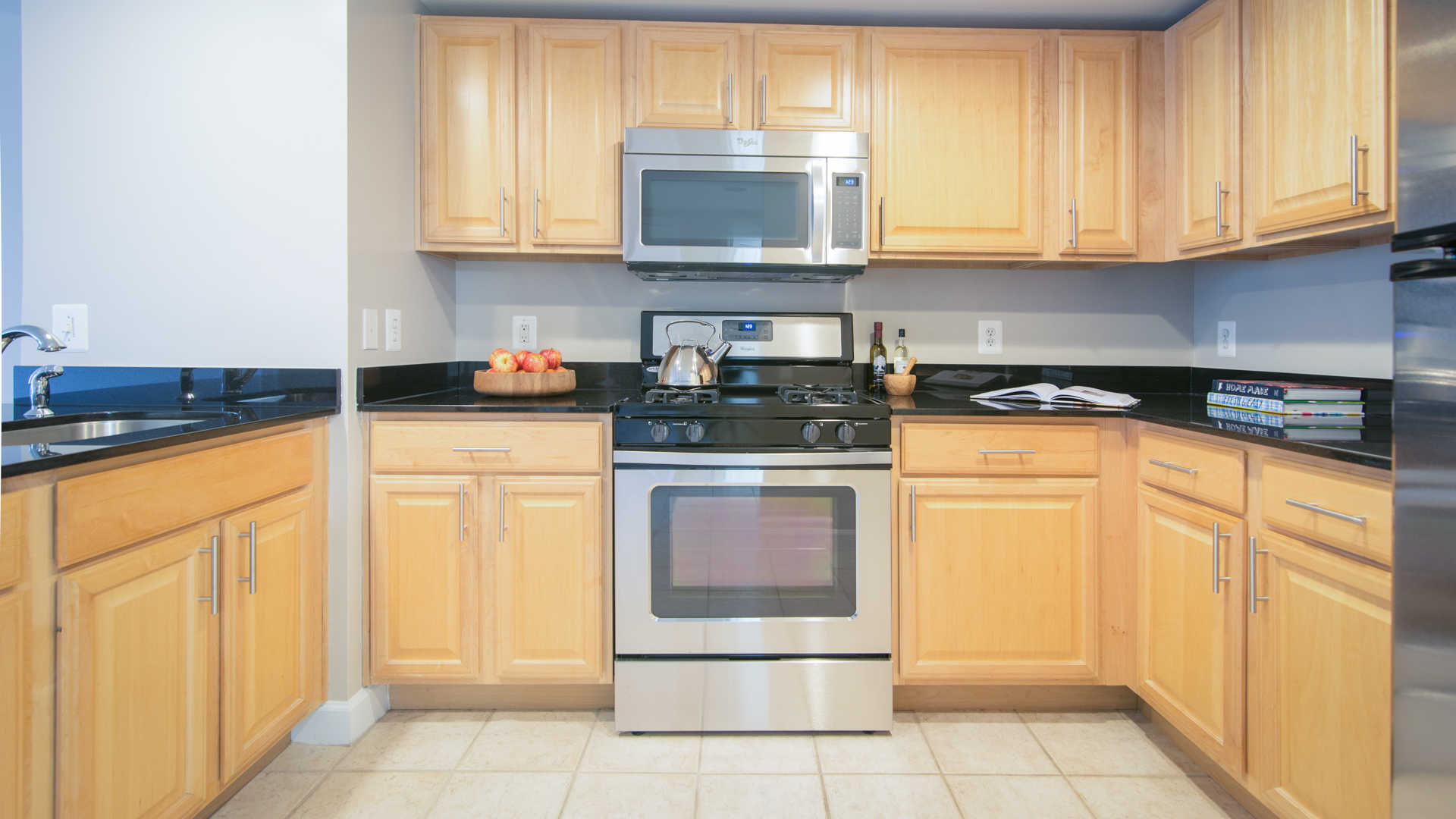 Kitchen with Stainless Steel Appliances and Granite Countertops