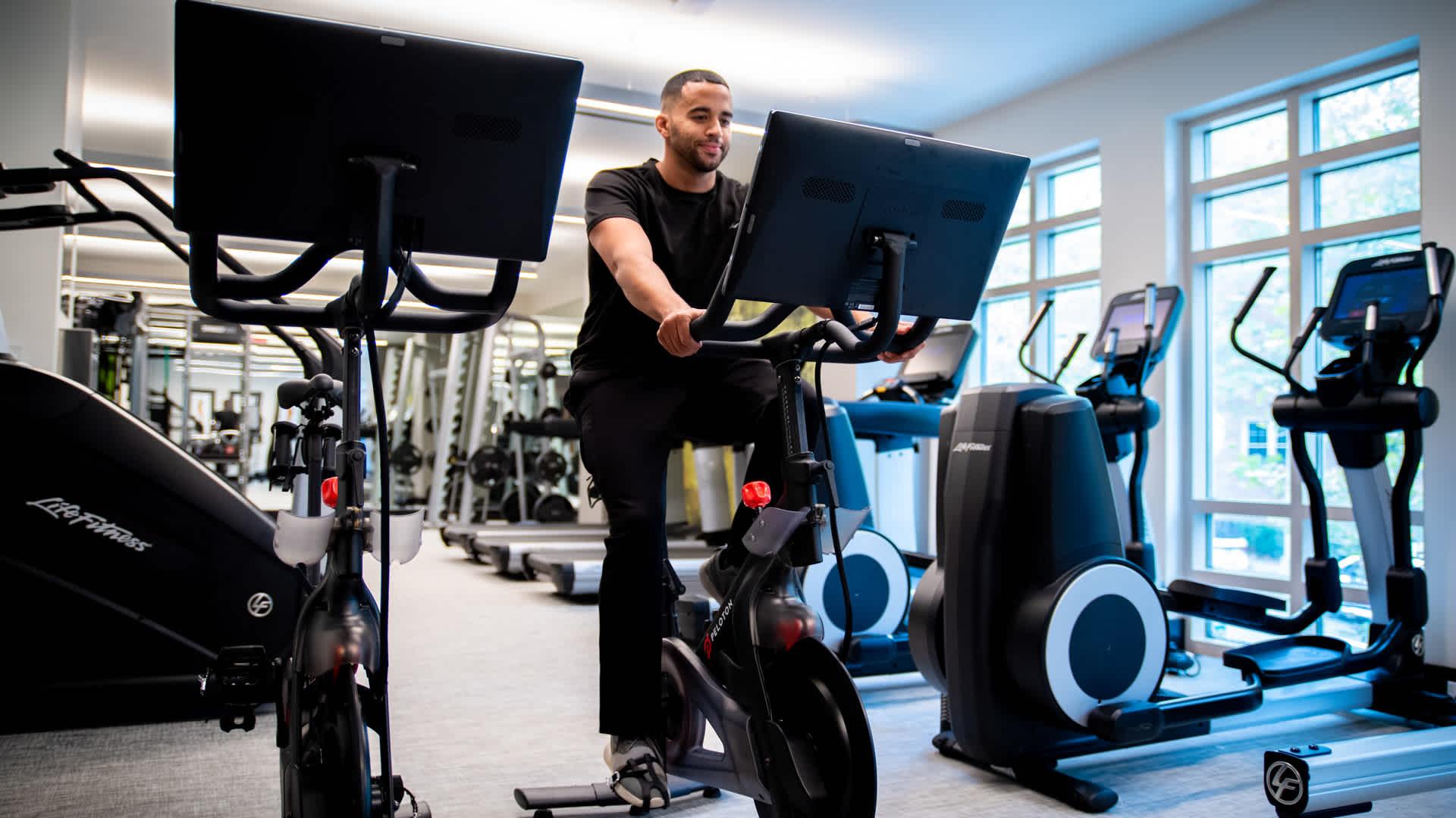 24 Hour Fitness Center with Peloton Bikes