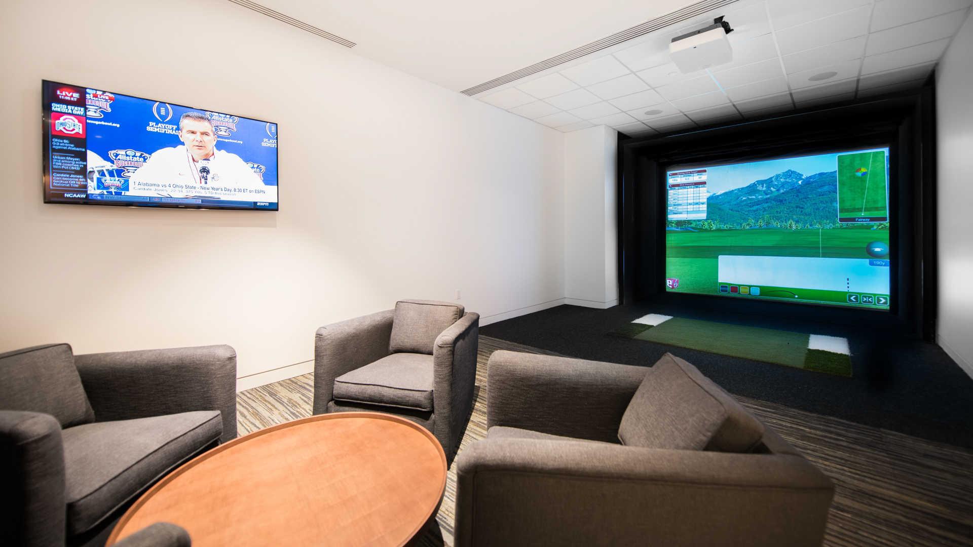 Golf Simulator and Lounge