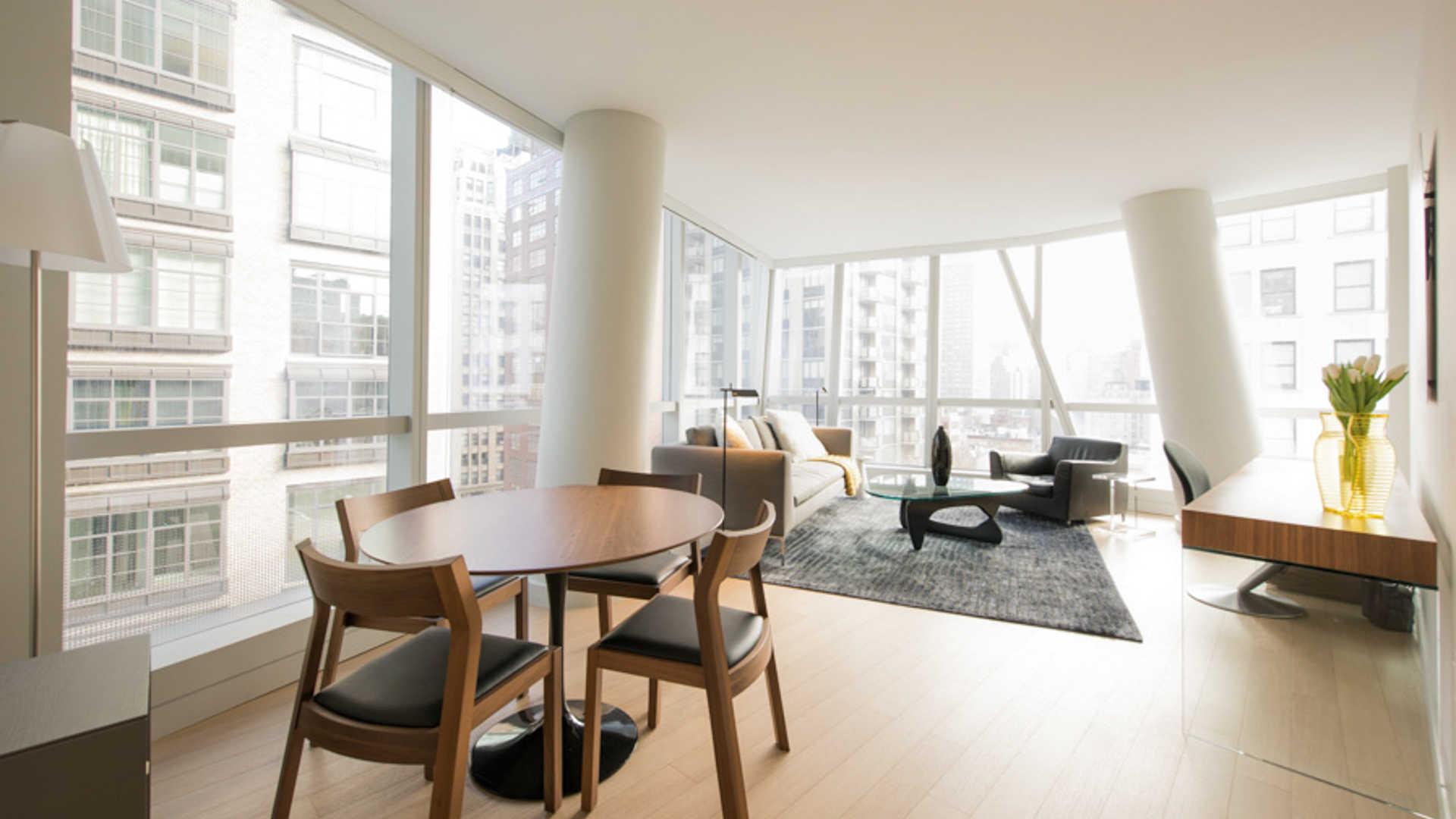Living Room with White Oak Wood Floor