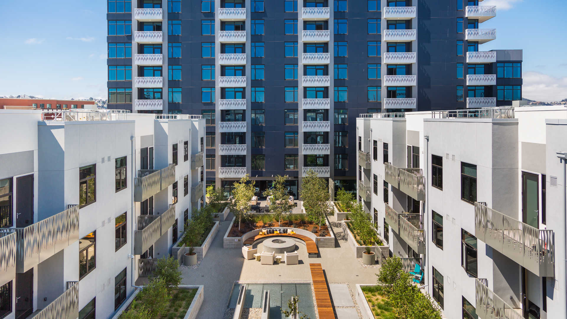 Azure apartments courtyard
