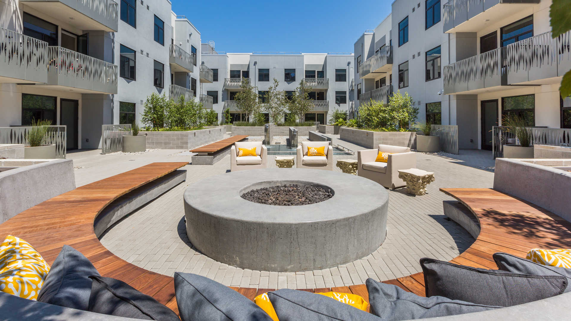 Azure apartments fire pit