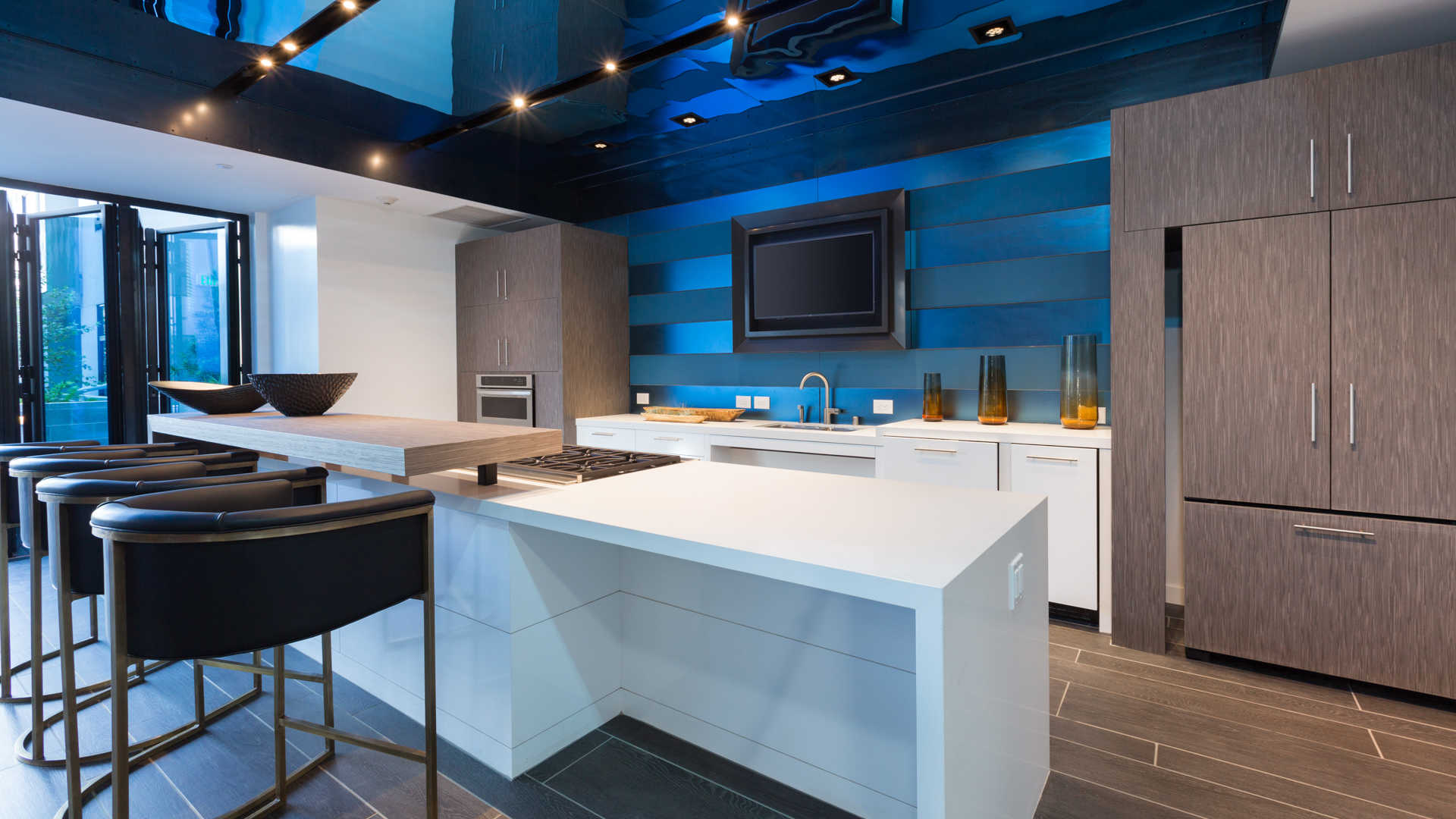 Azure apartments demonstration kitchen