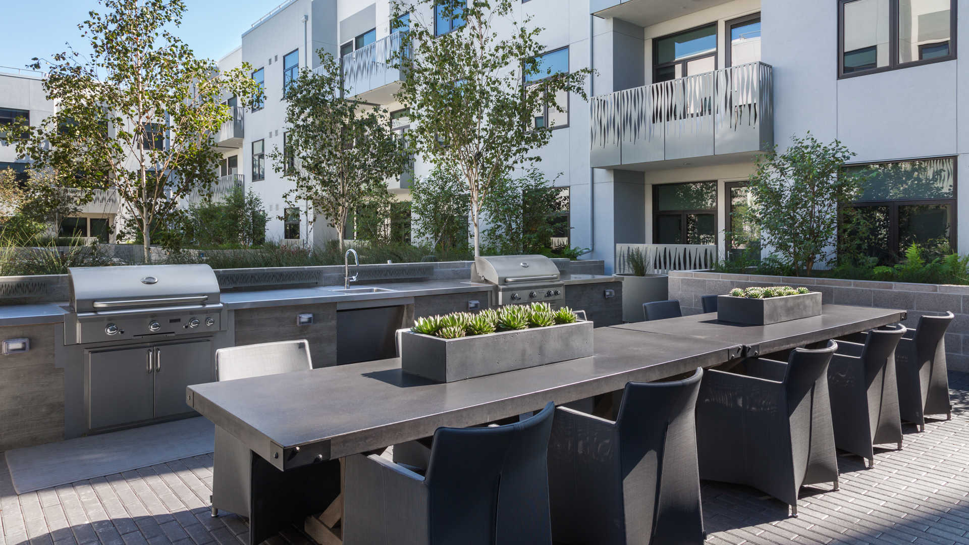 Azure apartments outdoor grilling area