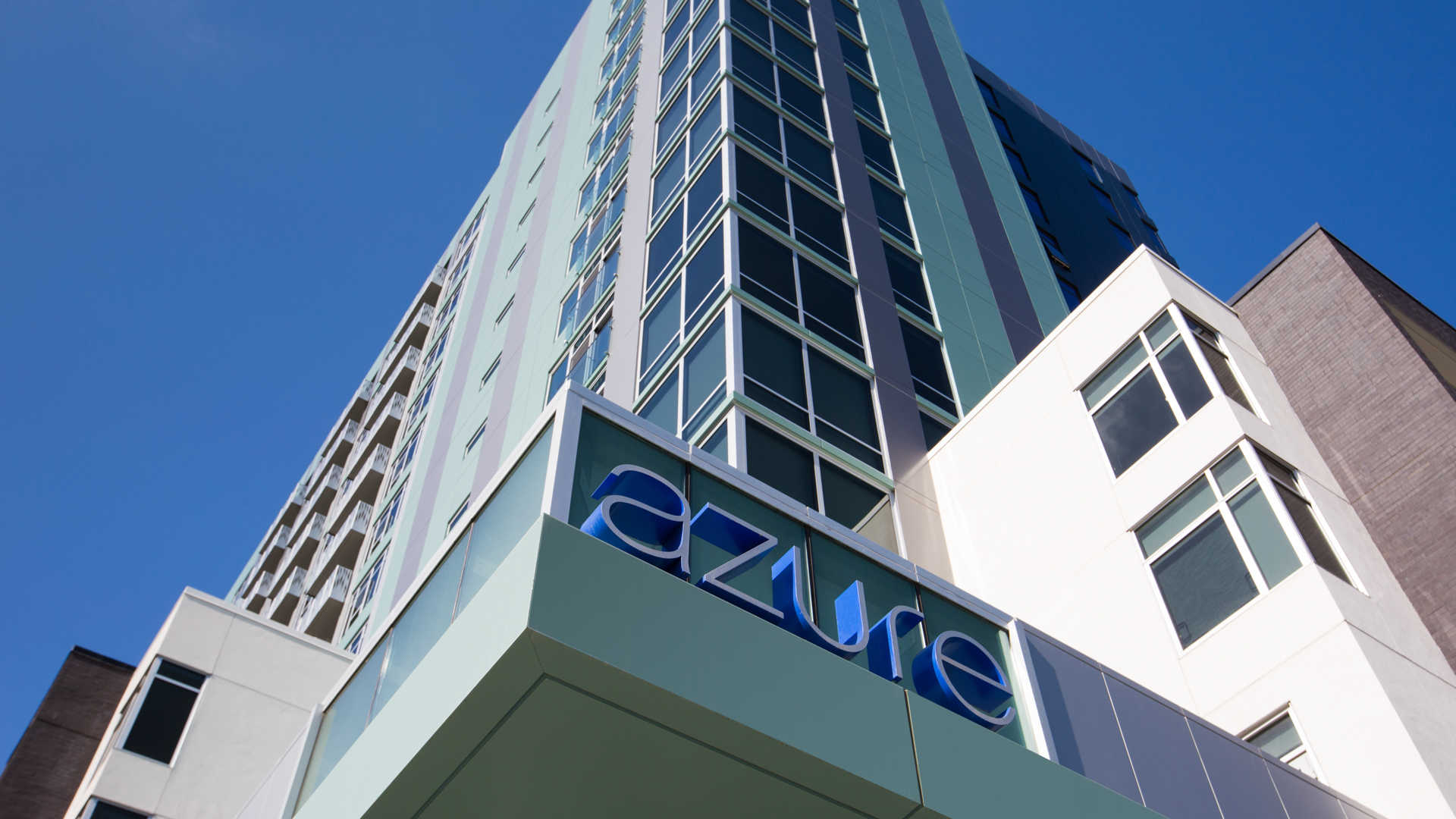 Azure apartments building