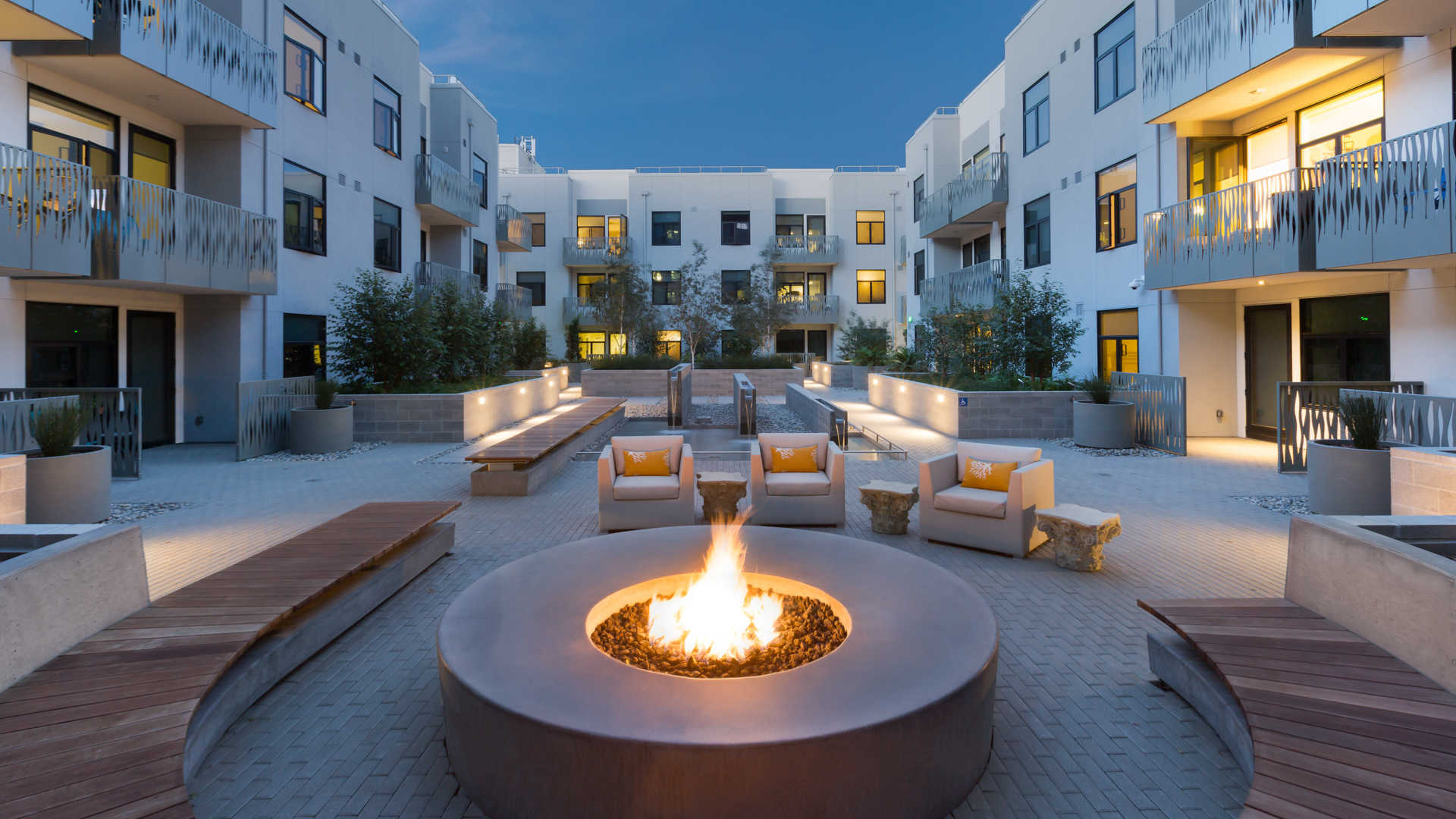 Courtyard and Fire Pit