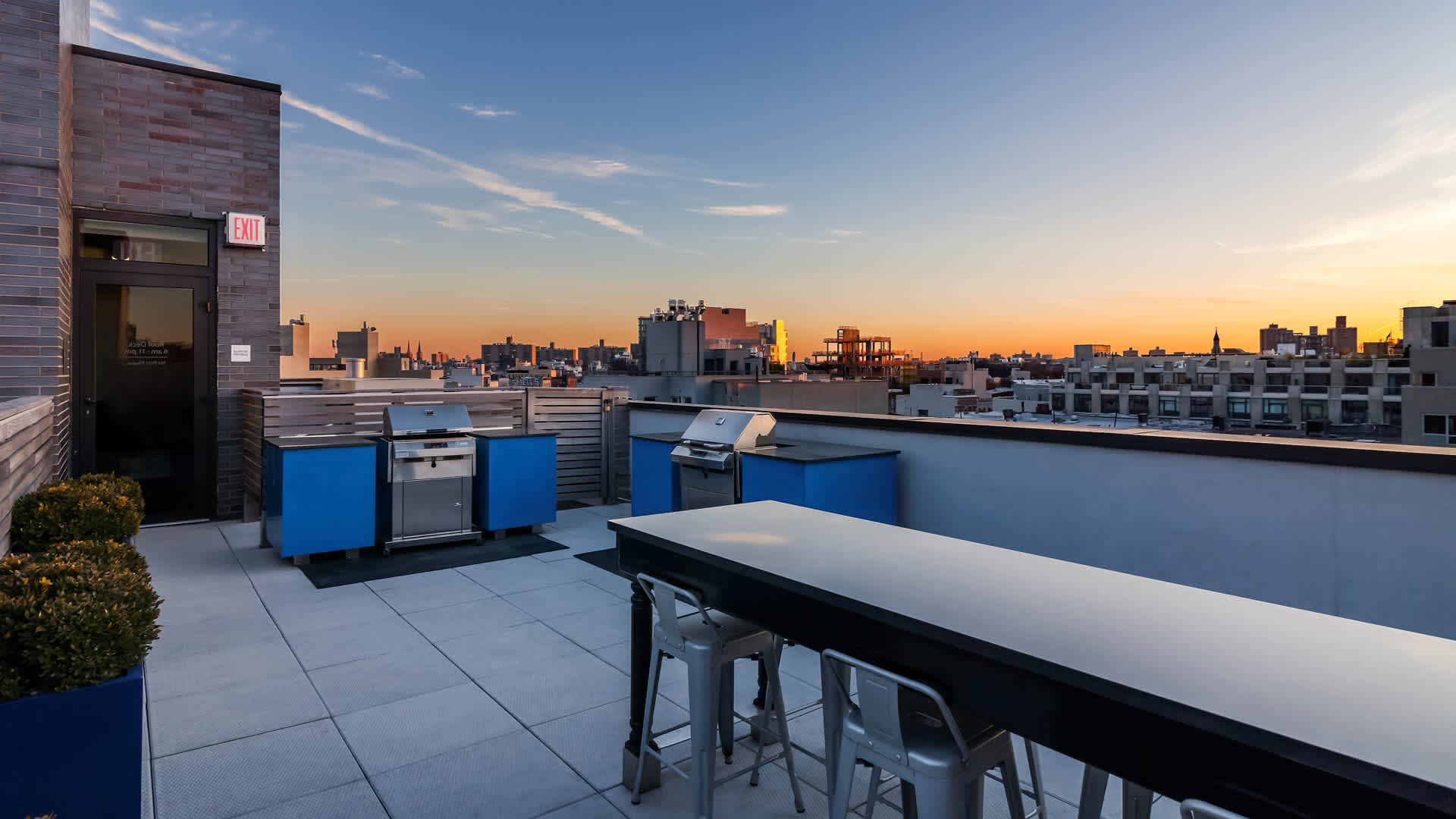 Atelier apartments rooftop lounge