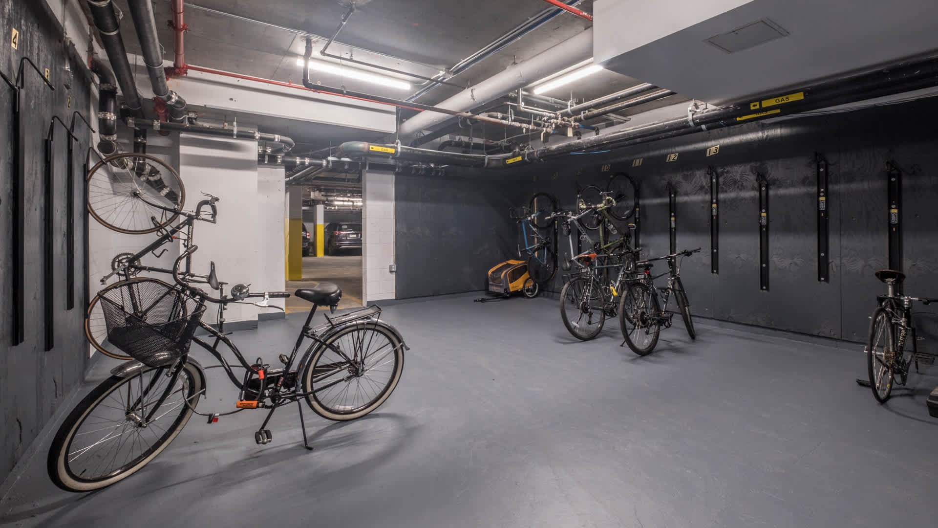 Atelier apartments bike room