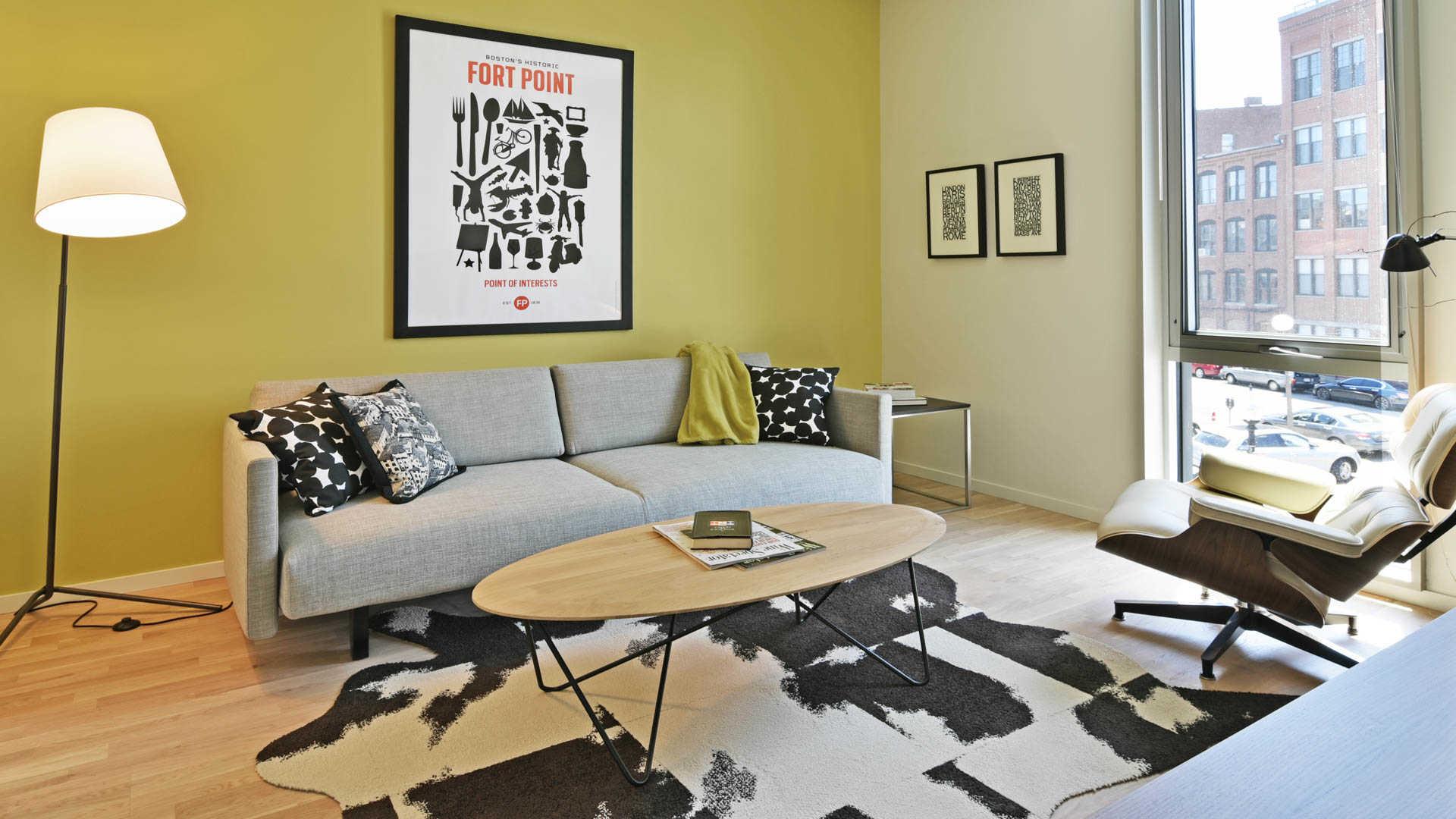 Girard apartments den